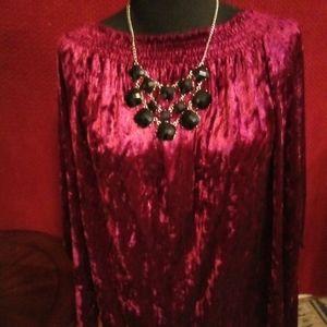 Burgundy velvet jessica Simpson blouse